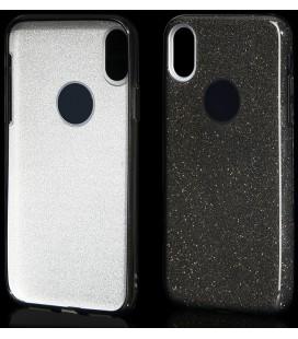 """Juodas silikoninis blizgantis dėklas Apple iPhone X / 10 telefonui """"Blink"""""""