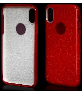 """Raudonas silikoninis blizgantis dėklas Apple iPhone X telefonui """"Blink"""""""