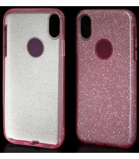 "Rožinis silikoninis blizgantis dėklas Apple iPhone X telefonui ""Blink"""