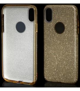 """Auksinės spalvos silikoninis blizgantis dėklas Apple iPhone X telefonui """"Blink"""""""