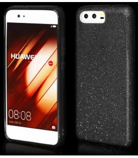 """Juodas silikoninis blizgantis dėklas Huawei P10 telefonui """"Blink"""""""