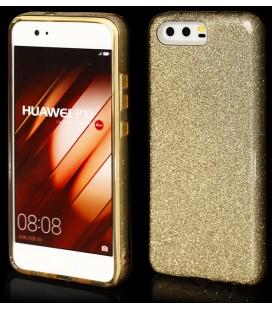 """Auksinės spalvos silikoninis blizgantis dėklas Huawei P10 telefonui """"Blink"""""""