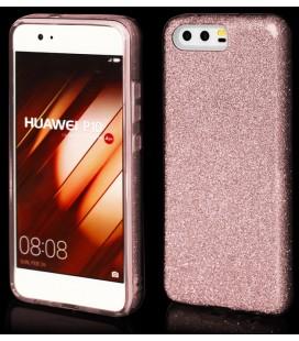 "Rožinis silikoninis blizgantis dėklas Huawei P10 telefonui ""Blink"""
