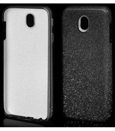 """Juodas silikoninis blizgantis dėklas Samsung Galaxy J7 2017 telefonui """"Blink"""""""