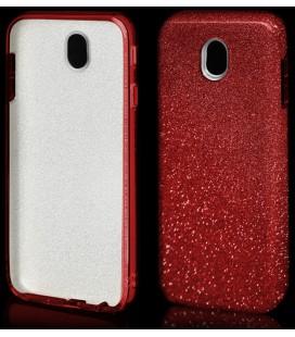 """Raudonas silikoninis blizgantis dėklas Samsung Galaxy J7 2017 telefonui """"Blink"""""""