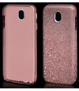 """Rožinis silikoninis blizgantis dėklas Samsung Galaxy J7 2017 telefonui """"Blink"""""""