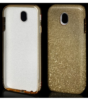 """Auksinės spalvos silikoninis blizgantis dėklas Samsung Galaxy J7 2017 telefonui """"Blink"""""""
