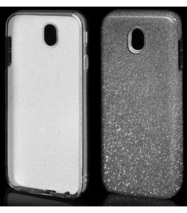 """Sidabrinės spalvos silikoninis blizgantis dėklas Samsung Galaxy J7 2017 telefonui """"Blink"""""""