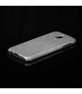 """Auksinės spalvos silikoninis blizgantis dėklas Samsung Galaxy J3 2016 telefonui """"Glitter Case Elektro"""""""