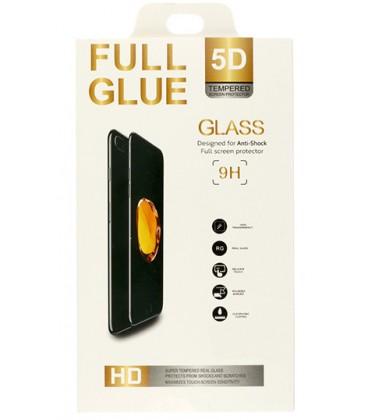 "5D Lenktas baltas apsauginis grūdintas stiklas CF Apple iPhone X telefonui ""Full Glue"""