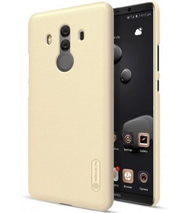 """Auksinės spalvos plastikinis dėklas Huawei Mate 10 Pro telefonui """"Nillkin Frosted Shield"""""""