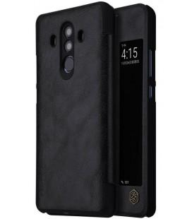 """Odinis juodas atverčiamas dėklas Huawei Mate 10 Pro telefonui """"Nillkin Qin S-View"""""""