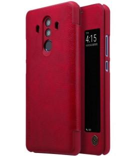 """Odinis raudonas atverčiamas dėklas Huawei Mate 10 Pro telefonui """"Nillkin Qin S-View"""""""