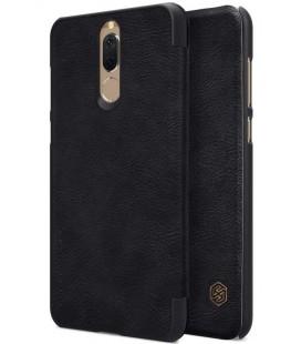 """Odinis juodas atverčiamas dėklas Huawei Mate 10 Lite telefonui """"Nillkin Qin"""""""