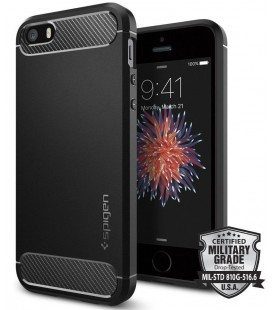 "Juodas dėklas Apple iPhone 7/8 telefonui ""Spigen Rugged Armor"""