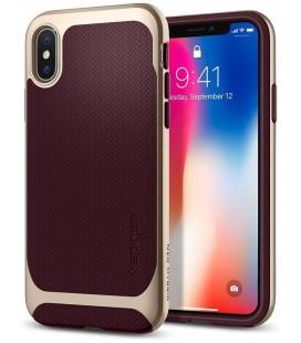 """Raudonas dėklas Apple iPhone X telefonui """"Spigen Neo Hybrid"""""""