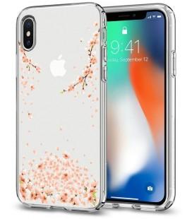 """Skaidrus dėklas Apple iPhone X telefonui """"Spigen Liquid Crystal Blossom"""""""