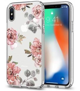 """Skaidrus dėklas Apple iPhone X telefonui """"Spigen Liquid Crystal Aquarelle Primrose"""""""