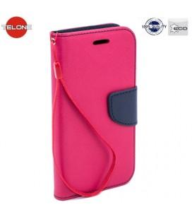 """Rožinis atverčiamas dėklas Samsung Galaxy A8 Plus 2018 telefonui """"Telone Fancy"""""""