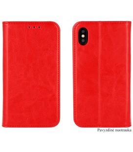 """Odinis raudonas atverčiamas klasikinis dėklas Huawei P9 Lite Mini telefonui """"Book Special Case"""""""