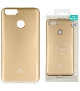 """Auksinės spalvos silikoninis dėklas Xiaomi Mi5X (Mi 5X, Mi A1) telefonui """"Mercury Goospery Pearl Jelly Case"""""""
