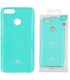 """Mėtos spalvos silikoninis dėklas Xiaomi Mi5X (Mi 5X, Mi A1) telefonui """"Mercury Goospery Pearl Jelly Case"""""""