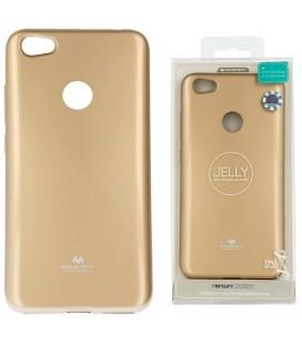 """Auksinės spalvos silikoninis dėklas Xiaomi Redmi Note 5A telefonui """"Mercury Goospery Pearl Jelly Case"""""""