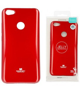 """Raudonas silikoninis dėklas Xiaomi Redmi Note 5A telefonui """"Mercury Goospery Pearl Jelly Case"""""""