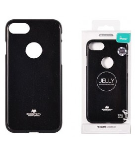 "Juodas silikoninis dėklas Apple iPhone 7 Plus / 8 Plus telefonui ""Mercury Goospery Pearl Jelly Case"""