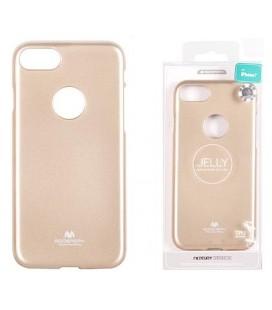 """Auksinės spalvos silikoninis dėklas Apple iPhone 7 Plus / 8 Plus telefonui """"Mercury Goospery Pearl Jelly Case"""""""