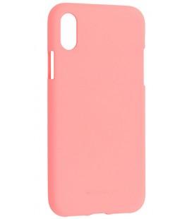 """Rožinis silikoninis dėklas Apple iPhone X telefonui """"Mercury Soft Feeling"""""""