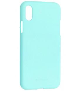 """Mėtos spalvos silikoninis dėklas Apple iPhone X telefonui """"Mercury Soft Feeling"""""""