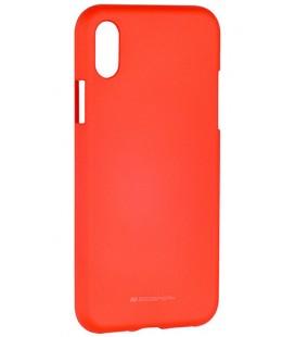 "Raudonas silikoninis dėklas Apple iPhone X telefonui ""Mercury Soft Feeling"""