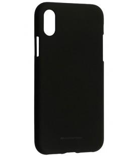 "Juodas silikoninis dėklas Apple iPhone X telefonui ""Mercury Soft Feeling"""