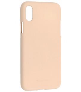 """Smėlio spalvos silikoninis dėklas Apple iPhone X telefonui """"Mercury Soft Feeling"""""""