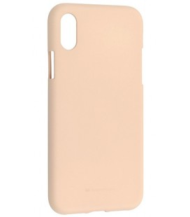 """Smėlio spalvos silikoninis dėklas Apple iPhone X/XS telefonui """"Mercury Soft Feeling"""""""