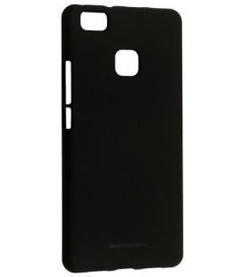 """Juodas silikoninis dėklas Huawei P9 Lite telefonui """"Mercury Soft Feeling"""""""