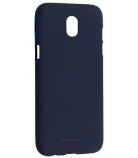 """Tamsiai mėlynas silikoninis dėklas Samsung Galaxy J5 2017 telefonui """"Mercury Soft Feeling"""""""