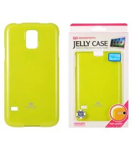 """Žalias silikoninis dėklas Samsung Galaxy S5/S5 Neo telefonui """"Mercury Goospery Pearl Jelly Case"""""""