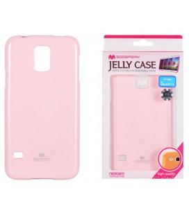 """Šviesiai rožinis silikoninis dėklas Samsung Galaxy S5/S5 Neo telefonui """"Mercury Goospery Pearl Jelly Case"""""""