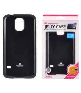 """Juodas silikoninis dėklas Samsung Galaxy S5/S5 Neo telefonui """"Mercury Goospery Pearl Jelly Case"""""""