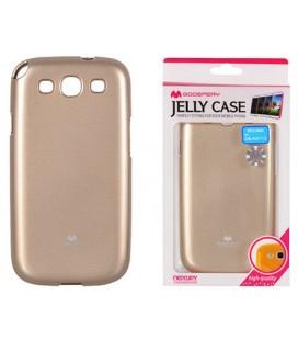 """Auksinės spalvos silikoninis dėklas Samsung Galaxy S3/S3 Neo telefonui """"Mercury Goospery Pearl Jelly Case"""""""