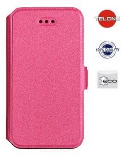 """Rožinis atverčiamas dėklas Samsung Galaxy A8 2018 telefonui """"Telone Book Pocket"""""""