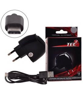 """Pakrovėjas 1A + Type C - USB laidas """"Tel1"""""""