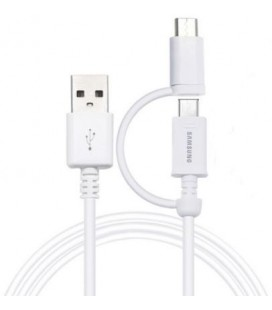 Originalus Samsung baltas Micro USB laidas + Type C ECBDU4EWE