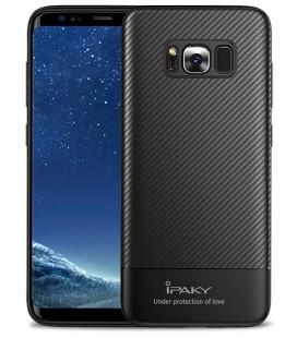 """Juodas dėklas Samsung Galaxy S8 telefonui """"iPaky Carbon Fiber"""""""