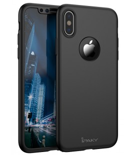 """Juodas dėklas Apple iPhone X telefonui """"iPaky 360 Protection"""""""