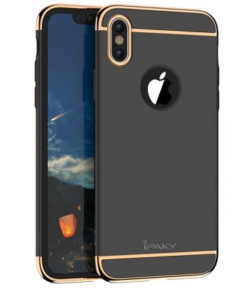 """Juodas dėklas Apple iPhone X telefonui """"iPaky 3in1"""""""