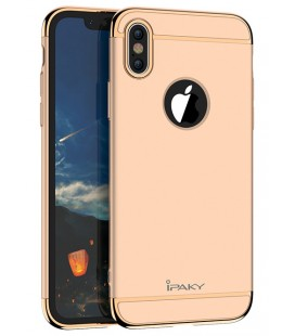 """Auksinės spalvos dėklas Apple iPhone X telefonui """"iPaky 3in1"""""""