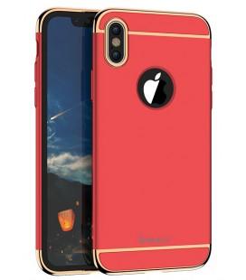 """Raudonas dėklas Apple iPhone X telefonui """"iPaky 3in1"""""""